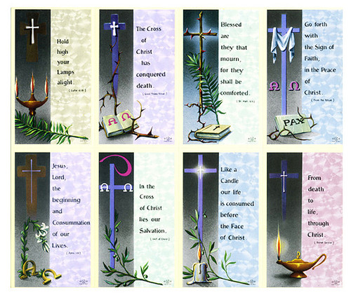 Cross Verse Assorted Cross Prayer Card Paper (Set of 8)