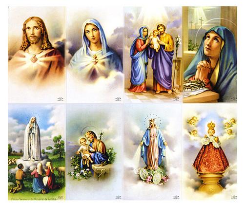 Cloud Backgrounds Catholic Assorted Mass Prayer Card Paper (Set of 8)