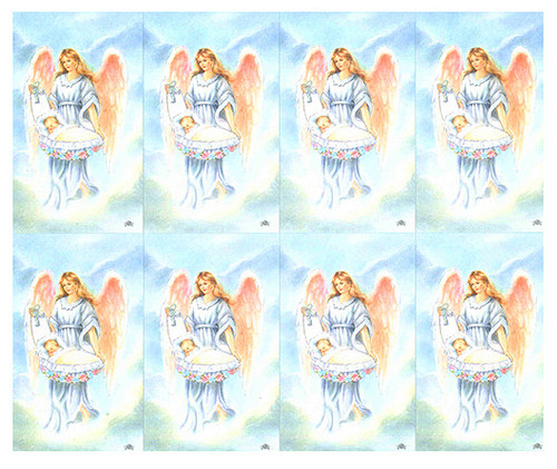 Guardian Angel and Baby Prayer Card Paper (Set of 8)