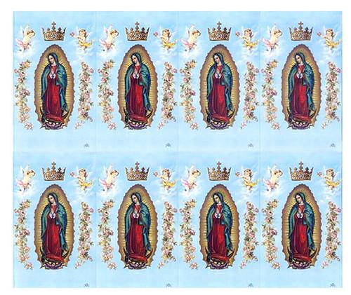 Lady of Guadalupe Catholic Mass Prayer Card Paper (Set of 8)