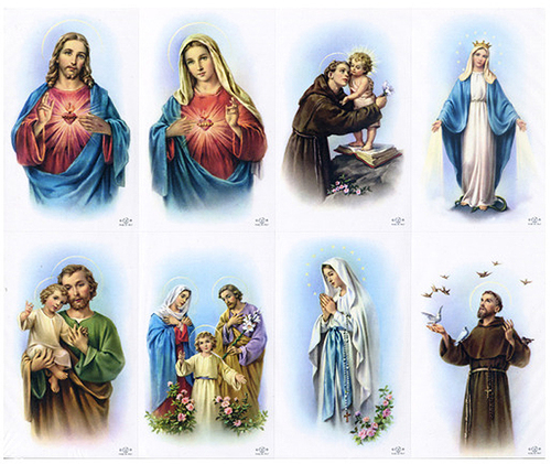 Soft Edge Assorted Catholic Mass Prayer Card Paper (Set of 8)