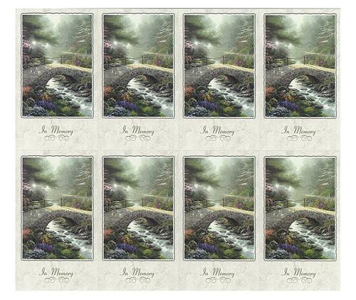 Thomas Kinkade® Bridge of Faith Prayer Card Paper (Set of 8)