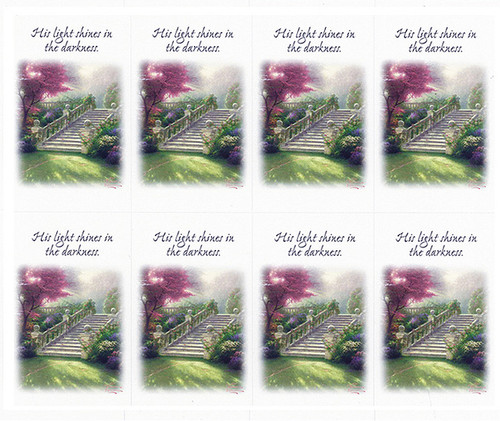 Thomas Kinkade® Stairway of Paradise Prayer Card Paper (Set of 8)