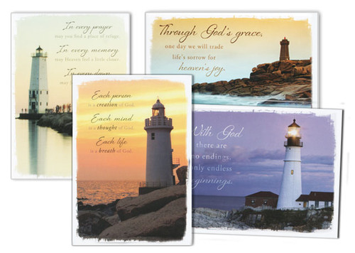 Everlasting Light Assorted Sympathy Cards (Box of 12)