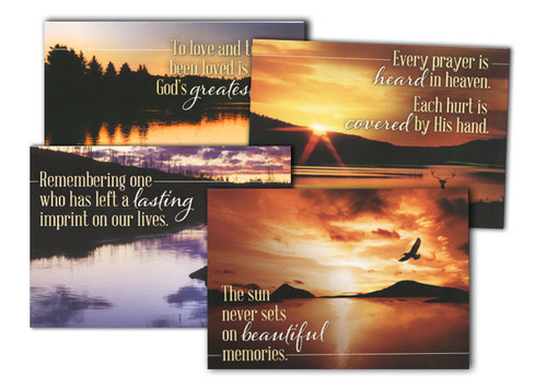 Reflections of Faith Sympathy Cards (Box of 12)