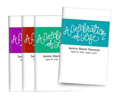 Brush Banner Bifold Funeral Program Design & Print (Pack of 25)