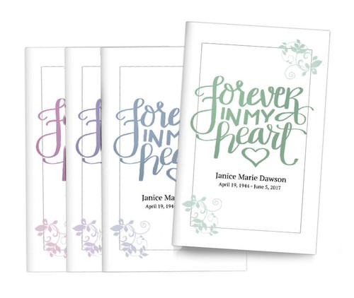 Brush Forever Bifold Funeral Program Design & Print (Pack of 25)