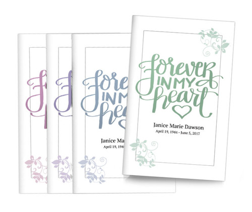 Brush Forever Bifold Funeral Program Design & Print (Pack of 25)