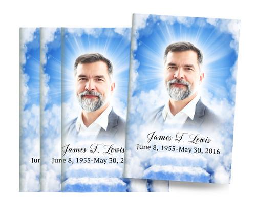 Heaven's Stairway Bifold Funeral Program Design & Print (Pack of 25)