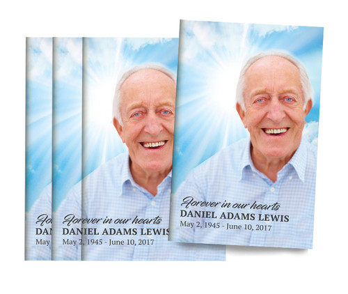Forever Hearts Bifold Funeral Program Design & Print (Pack of 25)