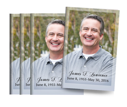 Natures Own Bifold Funeral Program Design & Print (Pack of 25)