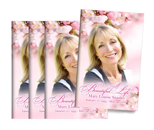 Soft Florals Center Fold Funeral Program Design & Print