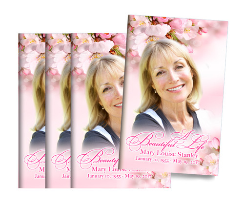 Soft Florals Bifold Funeral Program Design & Print (Pack of 25)