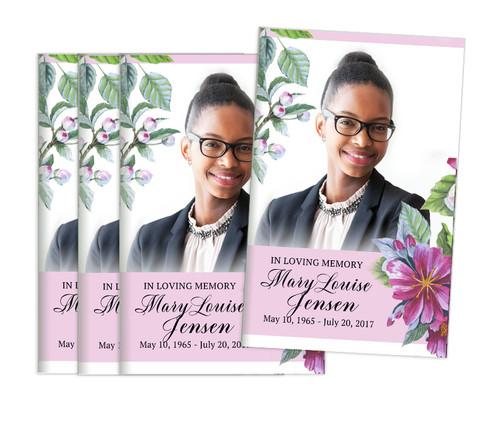 Water Blossom Center Fold Funeral Program Design & Print