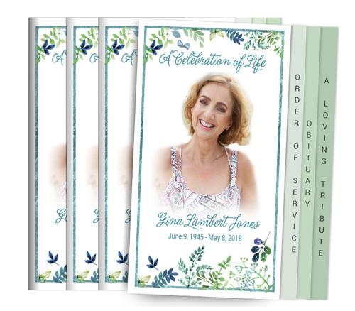 Endearment 8-Sided Graduated Funeral Program Design & Print (Pack 25)