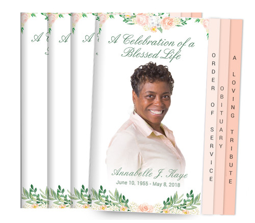 Ardor 8-Sided Graduated Fold Funeral Program Design & Print