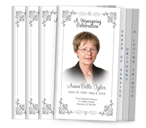 Sweetheart 8-Sided Graduated Funeral Program Design & Print (Pack 25)