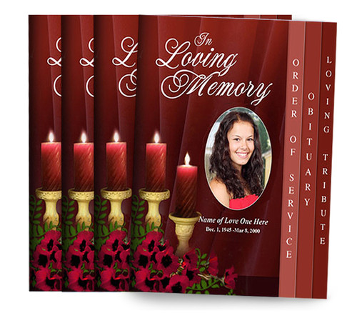 You Design, We Print 8-Sided Graduated Fold Funeral Program (Pack of 25)