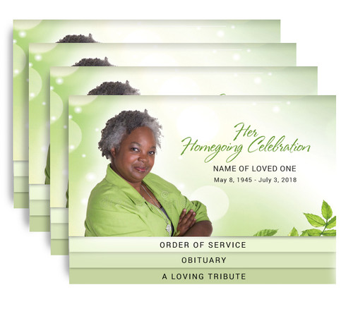 Twinkle 8-Sided Graduated Bottom Funeral Program Design & Print (Pack of 25)