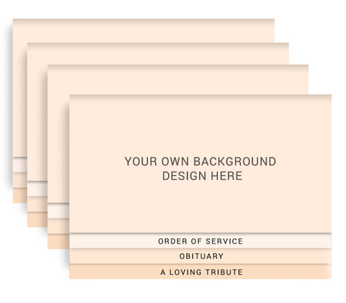 Your Background 8-Sided Graduated Bottom Funeral Program Design & Print (Pack of 25)