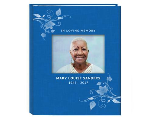 Ambassador Linen Guest Book With Photo Window (Multi Colors)
