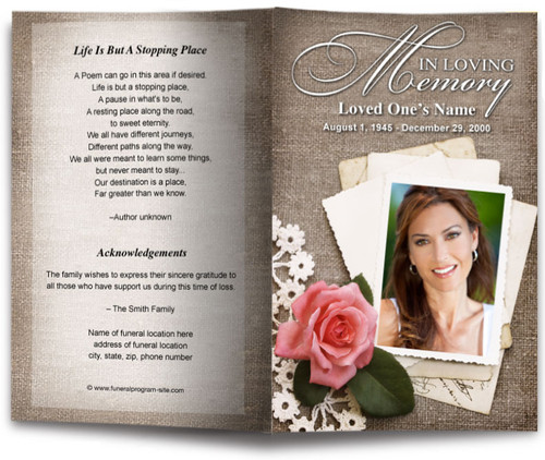 tiffany funeral program template