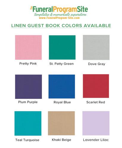 Excellence Landscape Linen Funeral Guest Book