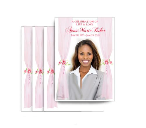 Sheer Drapes No Fold Funeral Postcard Design & Print (Pack of 25)
