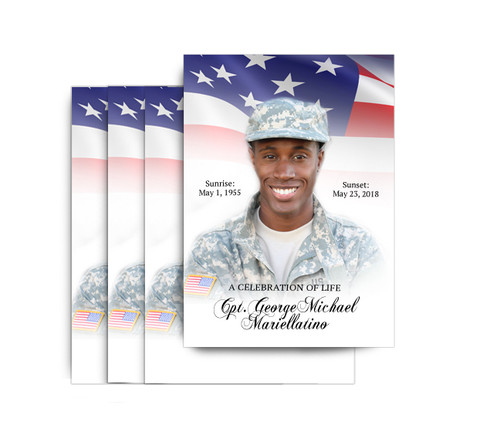 America No Fold Funeral Postcard Design & Print