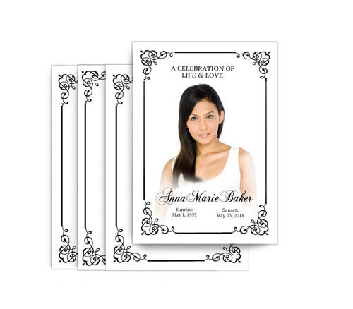 Cadence No Fold Funeral Postcard Design & Print (Pack of 25)
