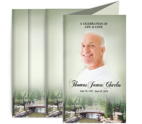Bridge Funeral Memorial Trifold Brochure Design & Print