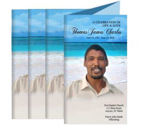 Caribbean Funeral Trifold Brochure Design & Print (Pack of 25)