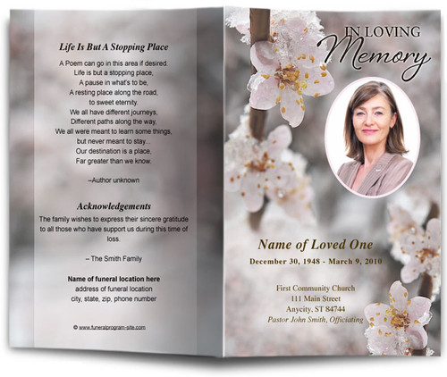 winter funeral program template