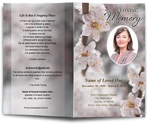 winter funeral program template
