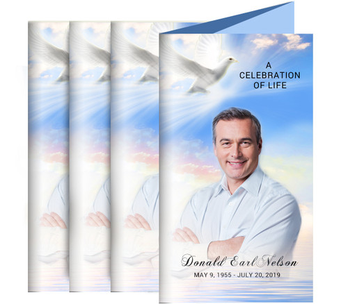 Peace Funeral Trifold Brochure Design & Print (Pack of 25)