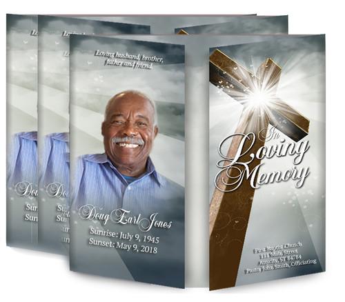 Eternal Gatefold Funeral Program Design & Print (Pack of 25)