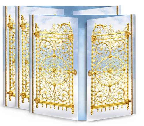 Golden Gates Gatefold Funeral Program Design & Print (Pack of 25)