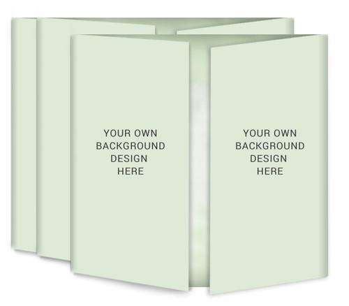 Your Background Gatefold Funeral Program Design & Print (Pack of 25)