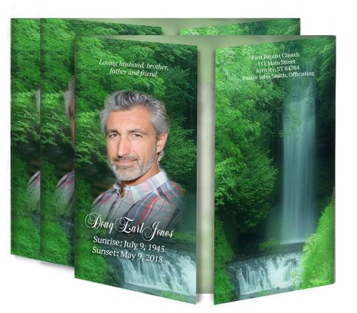 Cascade Gatefold Funeral Program Design & Print (Pack of 25)
