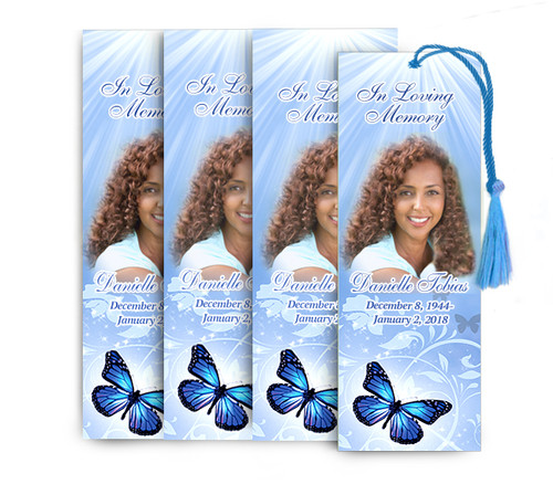 Butterfly Memorial Funeral Bookmark Design & Print (Pack of 25)