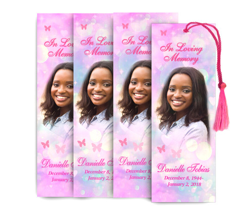 Cotton Candy Memorial Funeral Bookmark Design & Print (Pack of 25)