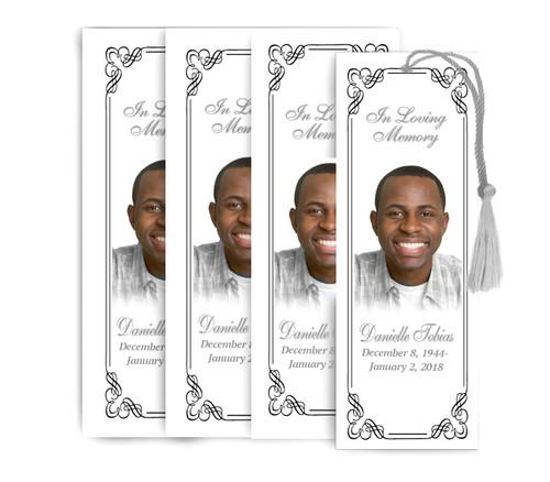 Dallas Memorial Funeral Bookmark Design & Print (Pack of 25)