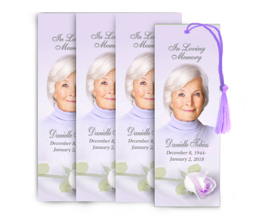 Beloved Memorial Funeral Bookmark Design & Print (Pack of 25)