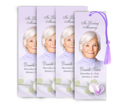 Beloved Memorial Funeral Bookmark Design & Print