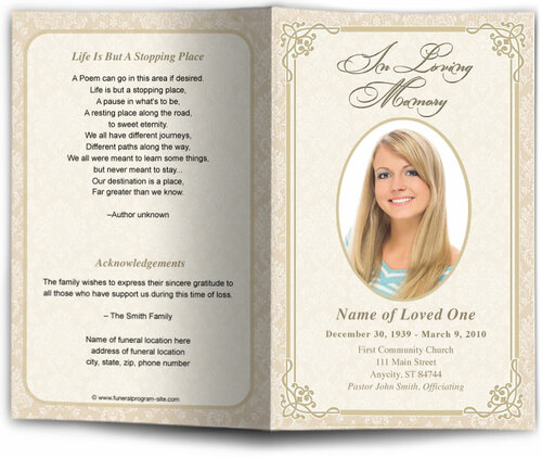 Alexandria Funeral Program Template
