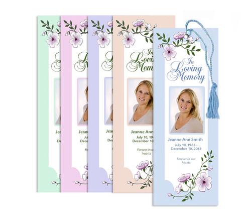 You Design Memorial Bookmark Printing Service