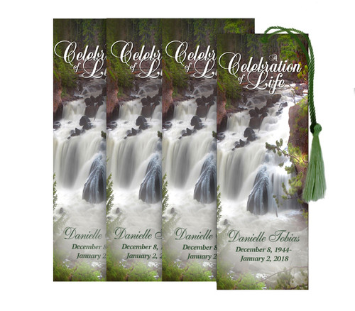 Graceful Memorial Bookmark Design & Print (Pack of 25)