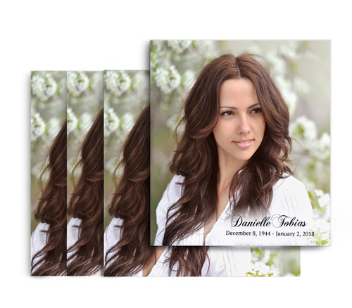 Your Photo No Fold Memorial Card Design & Print (Pack of 25)