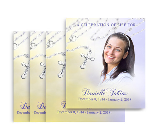 Beads No Fold Memorial Card Design & Print (Pack of 25)