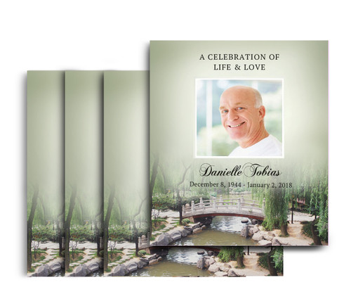 You Design No Fold Memorial Card Printing Service (Pack of 25)